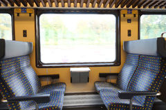 Modern train interior Royalty Free Stock Photo