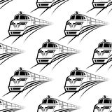Modern train seamless pattern Royalty Free Stock Photo