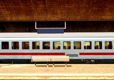 Modern train in station Royalty Free Stock Photography