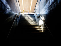 Modern train station abstract Platform 4 Royalty Free Stock Images