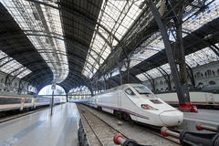 Modern train at the station Barcelona Spain Stock Photography