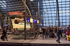 Modern train station berlin Royalty Free Stock Photography