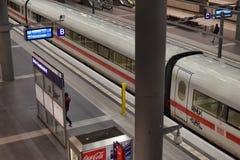 Modern train station berlin Royalty Free Stock Photo