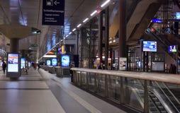 Modern train station berlin Stock Photos