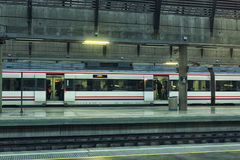 Modern train at the station. Royalty Free Stock Photography