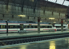 Modern train at the station. Royalty Free Stock Photo