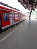 Modern train at the station, Bundesbahn, Deutschland Stock Photo