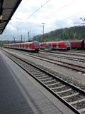Modern train at the station, Bundesbahn, Deutschland Royalty Free Stock Image