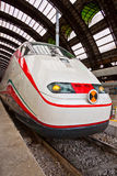 Modern train at station Stock Image