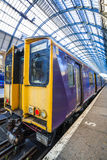 Modern train at the station Royalty Free Stock Image