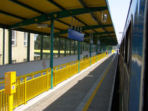 Modern train station. Photo of the empty train station Stock Photo
