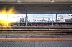 Modern train station Royalty Free Stock Photos