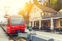 Modern train at the station Stock Photography