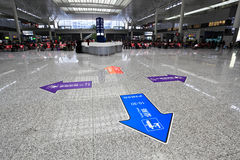 Modern train station waiting hall in shanghai Royalty Free Stock Photography