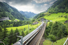 Modern train in Switzerland Stock Photography