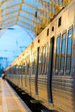 Modern train in train station. Lisbon Portugal Stock Images