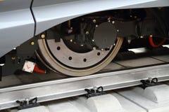 Modern train wheel Stock Photo