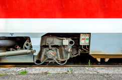 Modern train wheel axle royalty free stock images