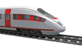 Modern train on white Royalty Free Stock Images