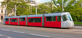 Modern tram Stock Photography