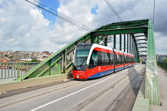 Modern Tram, Belgrade, Serbia stock images