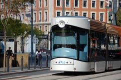 Modern tram in Bordeaux Royalty Free Stock Photo