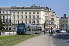 Modern tram in Bordeaux Stock Images