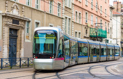 Modern tram of Grenoble - France Royalty Free Stock Images