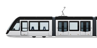 Modern Tram Isolated Stock Photography