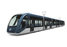 Modern Tram Isolated Stock Image