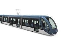 Modern Tram Isolated Royalty Free Stock Images