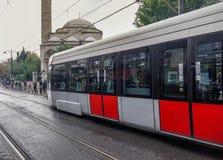 Modern tram in Istanbul, Turkey stock photos