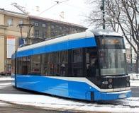 Modern tram in Krakow royalty free stock photos