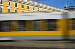 Modern Tram in LIsbon Royalty Free Stock Photography