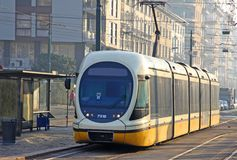 Modern tram in Milan Royalty Free Stock Images