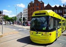 Modern tram, Nottingham. Stock Photography