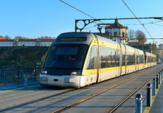 Modern tram, Porto Stock Photography