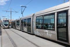 Modern tram in Rabat, Morocco Royalty Free Stock Image