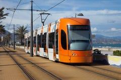 Modern Tram Royalty Free Stock Image