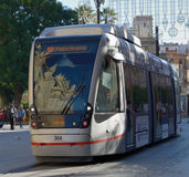 Modern tram in Seville, Spain Royalty Free Stock Photography