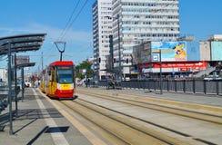 The modern tram station - Stop Center. Lodz Stock Photography