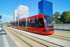 The modern tram station - Stop Center. Lodz Stock Photo