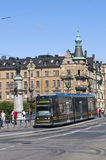 Modern tram in Stockholm Royalty Free Stock Photography