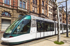 Modern tram on a street of Strasbourg, France Stock Photo