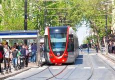 Modern tram Stock Photo