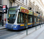 Modern Tram in Turin Italy Stock Images