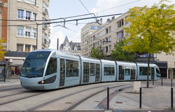 Modern tram in Valenciennes. France Royalty Free Stock Image