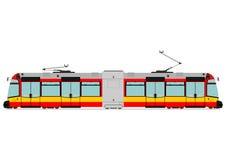 Modern tram vector illustration