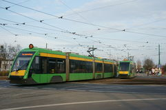 Modern trams Stock Photo