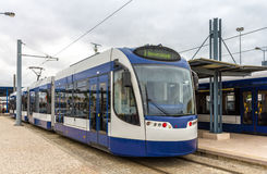 Modern tramway in Almada near Lisbon Stock Photography